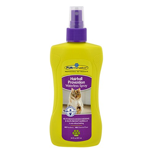 FURminator Hairball Prevention Waterless Spray for Cats