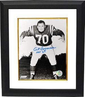 Art Donovan Autographed Signed Baltimore Colts 16x20 Photo HOF 68 Custom Deluxe Framed - Certified Authentic Art Donovan Signed Baltimore Colts
