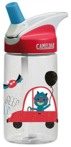(CamelBak Kids Eddy Water Bottle, 0.4 L, Rad)