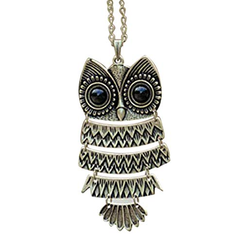 Odeer Necklace 2017 Lady Women Vintage Silver Owl Pendant Necklace Best Gift For XMAS Gift for Christmas Day,Birthday,Thanksgiving Day ()