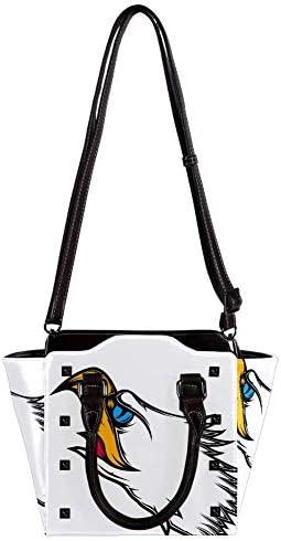 IUBBKI dessin animé mignon pingouin sac à main dame fourre-tout sac bandoulière sac à bandoulière 11x4.3x7.5in