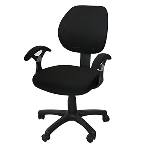 Freahap Chair Cover Stretch Spandex Washable Removable for Office Home Desk Swivel Chair Protector Black by Freahap