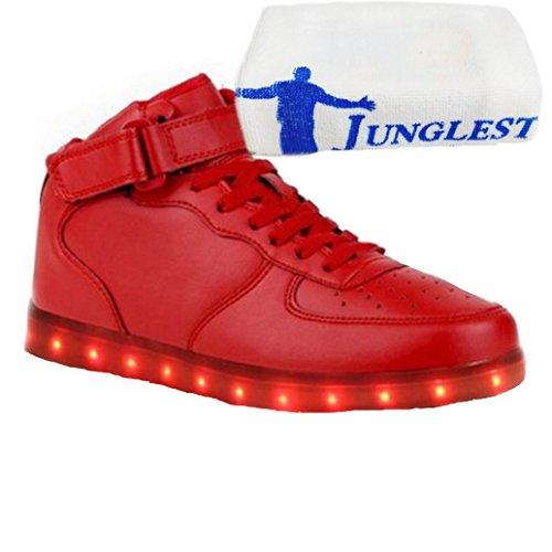 c0 EU 32,[+Kleines Handtuch] Die LED-Lampe Frauen und Leucht Schuhe emittierende Männer Schuhe Farben weise leuchtet Babyschuhe USB-Lade Licht korea