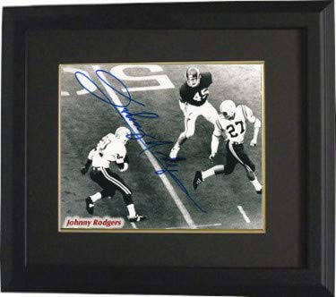 Johnny Rodgers Photograph - Johnny Rodgers Autographed Signed Nebraska Cornhuskers 8x10 Photo Custom Deluxe Framed - Certified Authentic