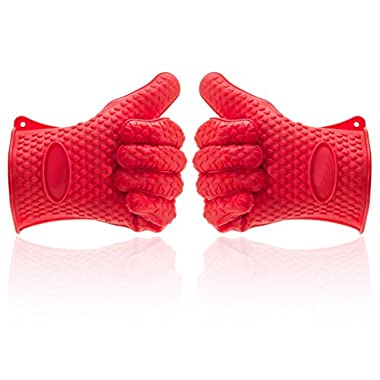Kitchen Hero Premium Silicone BBQ Glove Set (Pair/2), Multi-purpose Gloves Oven Mitts, Ideal Replacement for Pot Holders & Fabric Oven Mitt