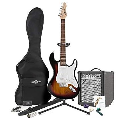LA Electric Guitar + 35W Complete Amp Pack Sunburst