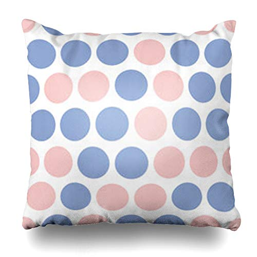 GisRuRu Throw Pillow Covers Big Carpet Dotted Pink Blue Dots Geometric Serenity Polka Abstract Polkadot Circle Color Dress Home Decor Sofa Pillowcase Square Size 16 x 16 Inches Cushion Cases (Dotted Knit Dress)