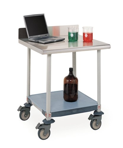 Metro Mobile Lab Table - LTM60XUS3 - Description : Mobile Worktable with Stainless Steel Top, Backsplash, and Three-Sided Frame - MetroMax Lab Worktables, Metro - Each