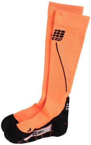 CEP Women's Progressive+ 2.0 Night Run Socks, Size III (Calf 12.5-15-Inch), Flash Orange/Black by CEP