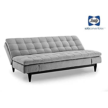 Admirable Sealy Montreal Transitional Convertible Sofa With Microfiber Upholstery In Gray Gmtry Best Dining Table And Chair Ideas Images Gmtryco
