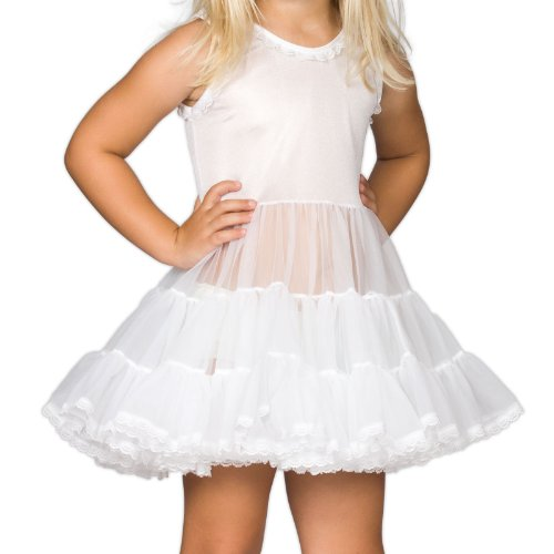 I.C. Collections Little Girls White Bouffant Slip Petticoat, 2T ()
