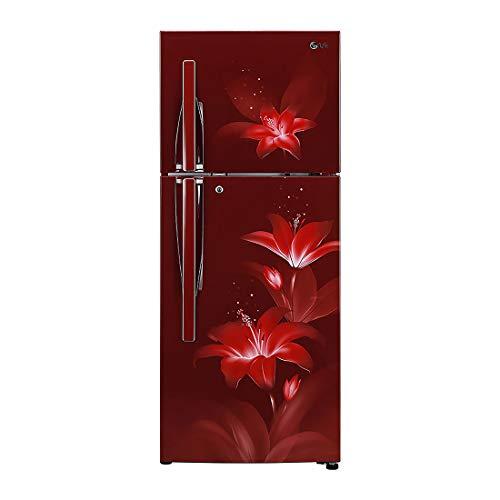 LG 284 L 2 Star Inverter Frost-Free Double-Door Refrigerator (GL-T302RRGU, Ruby Glow)