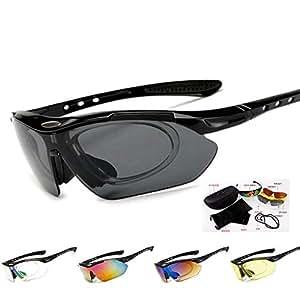 Yuqianqian Gafas Polarizadas Deporte Bici Anti UV400 Gafas ...