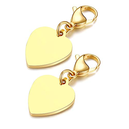 Mealguet Jewelry 2 Pcs Stainless Steel Personalized