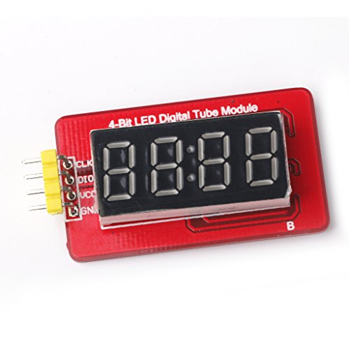 MagiDeal 4-Bit LED Digital Tube Module with Clock Display Board TM1637