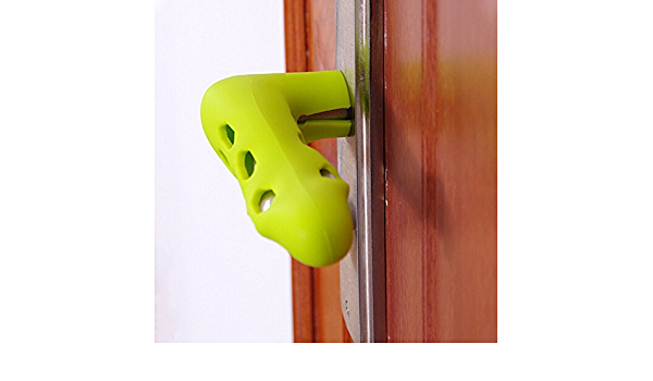 #N//A Silicone Protector Child Door Handle Gloves Anti-collision Baby Safety Doorknob Cover Home Door Handle Decor Yellow