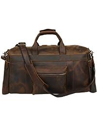 Duffle Genuine Leather Weekender Travel Duffel luggage Bag