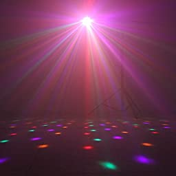 TSSS DM512 Stage light 18w Strobe Effects 6Colors with Speed Adjustable Voice-Activated for Party Club Wedding