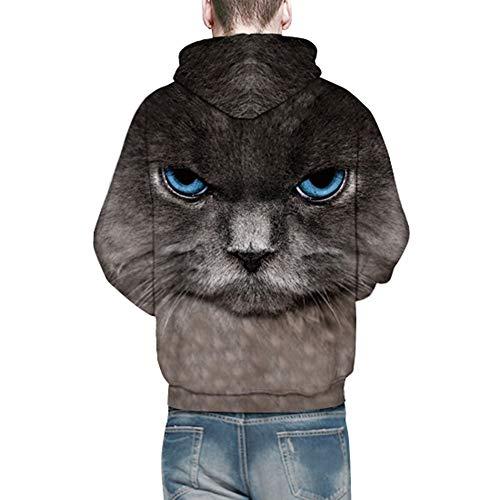 Manches Foncé Mode 2018 Multicolore Lion 3d Automne Tee Pull Hoodies Hiver Homme Ciellte Imprimé Sweatshirt Chat Stylé Gris Longues Sportif Impression qRxwcEtOcg