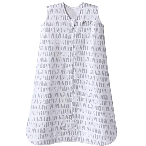 Halo Sleepsack Cotton Wearable Blanket, Squares and Triangles, Grey, X-Large by Halo (Image #6)