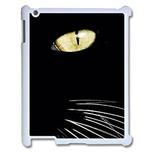 wugdiy New Fashion Cover Case for iPad2,3,4 with custom black cat eye