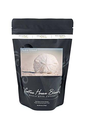 Padre Island National Seashore - Sand Dollar (8oz Whole Bean Small Batch Artisan Coffee - Bold & Strong Medium Dark Roast w/ ()