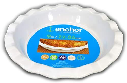 (Anchor Hocking White Ceramic 9 Inch Pie Plate)