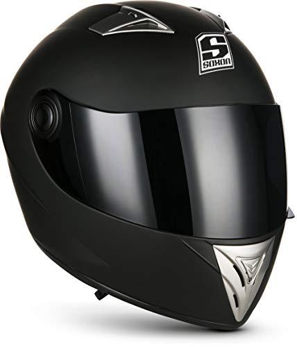 "Soxon® ST-550 ""Fighter"" · Integral-Helm · Full-Face Motorrad-Helm Roller-Helm Scooter-Helm Cruiser Sturz-Helm…"