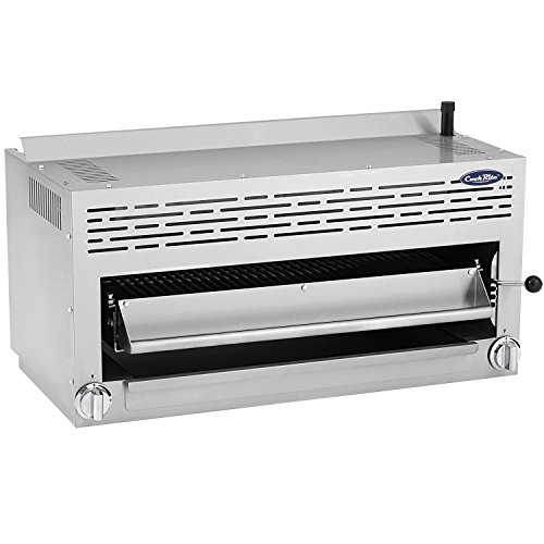 "ATOSA US CookRite ATSB-36 Commercial Cheese Melter Salamander Broiler Infrared Raclette Countertop Grill Natural Gas 36""- 43,000 BTU"