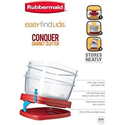 Rubbermaid Easy Find Lids Square 3-Cup Food Storage Container (Pack of 4)