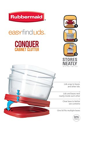 Large Product Image of Rubbermaid - 1777161 Easy-Find Lid Food Storage Container, 14-Cups Pk of 3