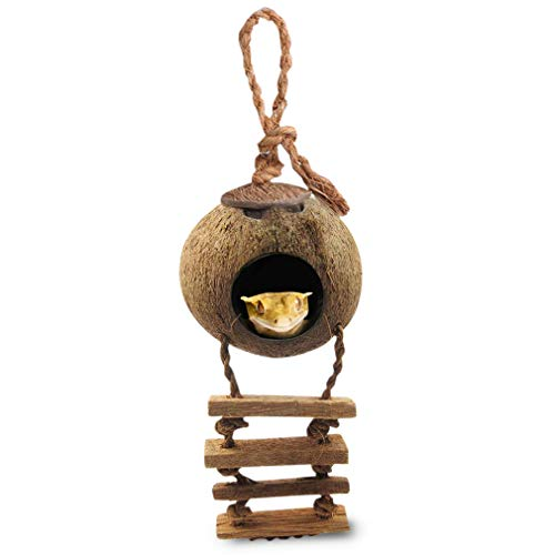 Natural House - Treat Dispenser Home - 100% Natural Coconut Husk - Durable & Sturdy - Habitat for Small & Medium Pets