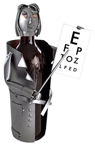 H   K Sculptures 6847Li Female Eye Doctor 1 Bottle Tabletop Wine Rack