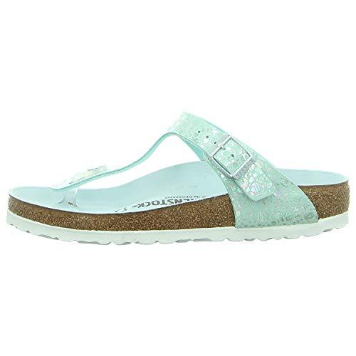 Birkenstock Unisex Gizeh Birko-Flor Aqua Sandals 9 W / 7 M US