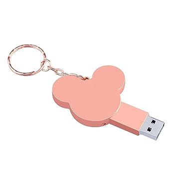 Memorias USB Flash Drive Metal Llavero Cabeza De Mickey ...