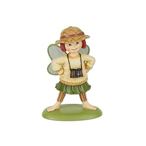 (Studio M Merriment Collection Minature Garden Fairy Statue , 3.75-Inches, Gigi, Explorer Fairy)