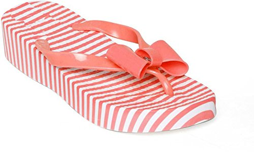 0b48502a30e Image Unavailable. Image not available for. Colour  Shoe lab Women Orange  Tai Strips Slippers