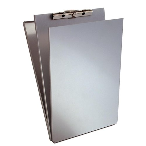 Wholesale CASE of 5 - Saunders Aluminum Top-Opening Storage Clipboards-Form Holder,w/ Top Open,Stor Cmpmnt.,8-1/2''x14'',Aluminum