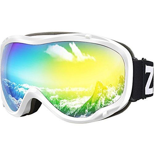 (Zionor Lagopus Ski Snowboard Goggles UV Protection Anti-Fog Snow Goggles for Men Women Youth)