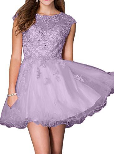 mit Steine Braut Tanzenkleider Heimkehr Abendkleider Marie La Spitze Mini Flieder Kleider Cocktailkleider Rosa wYqxCHZnOX