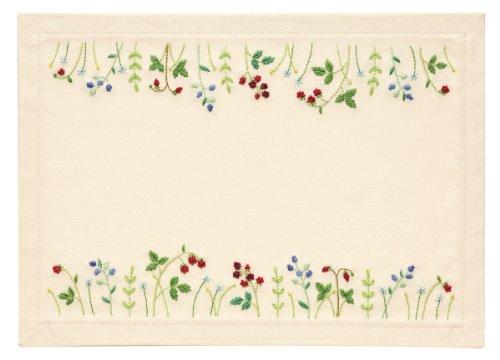 "Orimupasu made ãN Embroidery kit ""my sweet garden"" No.9026 Berry (tea mat)"