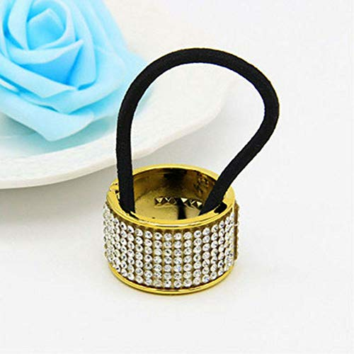Crystal Gum For Women Girls Cuffs Headwear Hairband Buckle Hair Ring (color - ()