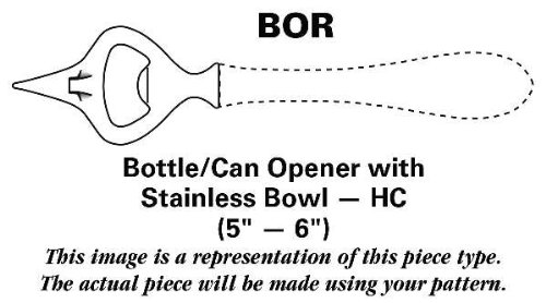 Update International Marquis (Stainless) Bottle/Can Opener with Stainless Bowl HC
