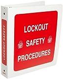 Brady 3-Ring Binder for Lockout Procedures