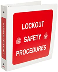 Brady 3-Ring Binder for Lockout Procedur...