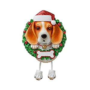 Personalized Beagle Pure Breed Christmas Tree Ornament 2019 - Fluffy Dog Dangle Paw Santa Hat Love Play Small Happy Fun Energetic Fur-Ever Orange Brown New Loyal Family R.i.p. - Free Customization 42