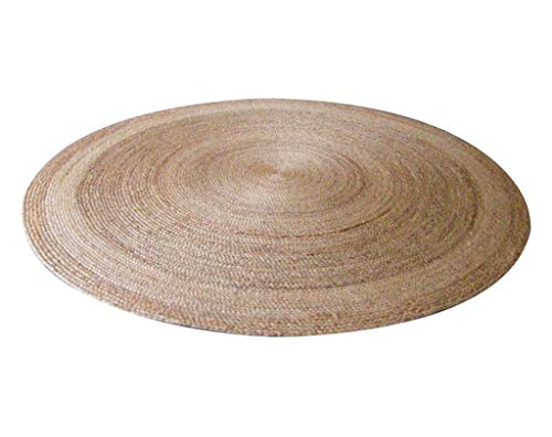 PQPQPQ Carpets, of The Nature of The Environment Hand Tufted Carpet Formed About Jute Coffee Table Lounge Restaurant Diameter 1.2 m