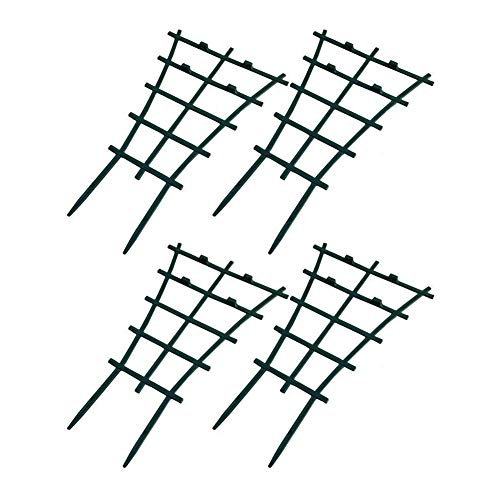 - Exttlliy Plastic Mini Superimposed Garden Plant Support DIY Climbing Trellis Flower Supports Dark Green (4Pcs)