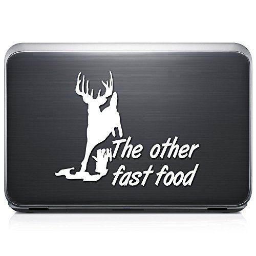 The Other Fast Food Deer Buck PERMANENT Vinyl Decal Sticker For Laptop Tablet Helmet Windows Wall Decor Car Truck Motorcycle - Size (10 Inch / 25 Cm Wide) - Color (Gloss White) by GottaLoveStickerz