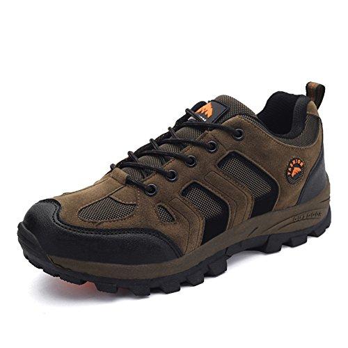 Mens Hiking Shoes Skidproof Walking Sneaker for Trail Running Trekking Training (Khaki, EU40) Review